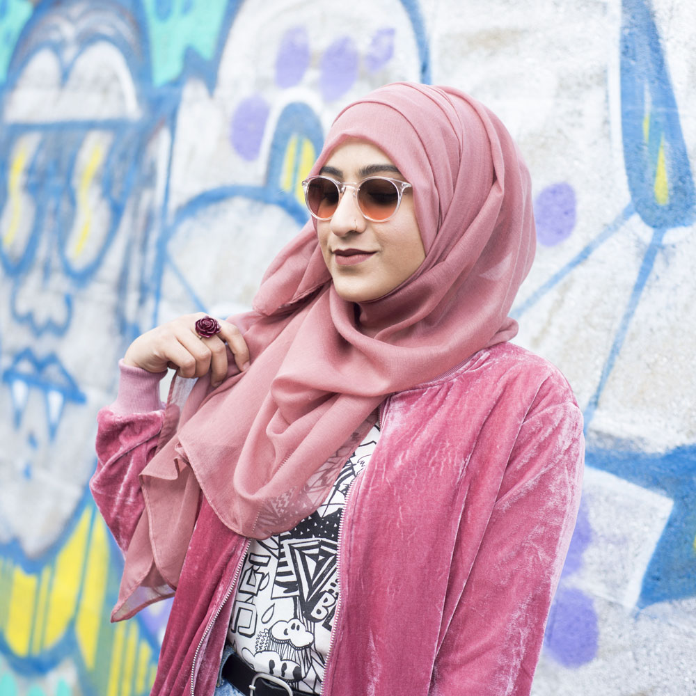 Hijab vieux rose Anlya Modest Fashion