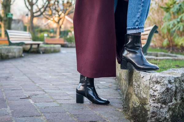 bottines noires lookbook mode