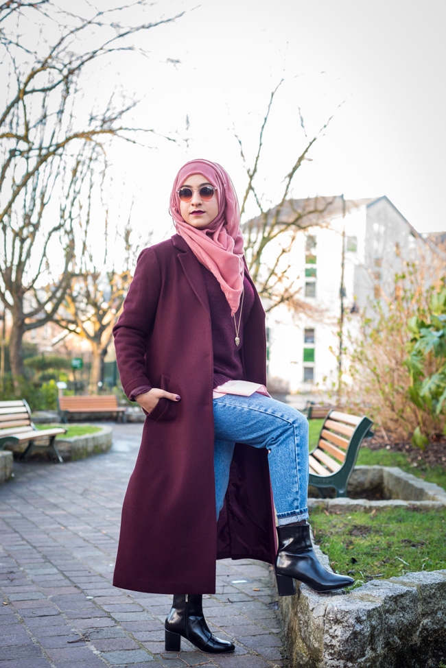 hijab lookbook retro vintage