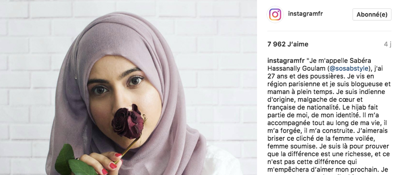 instagram france sosabstyle voile mode pudique