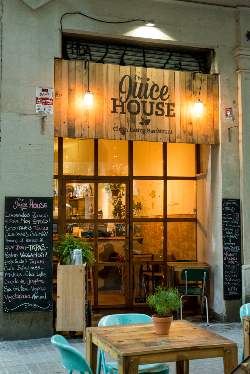 vegetarian food barcelona the juice house